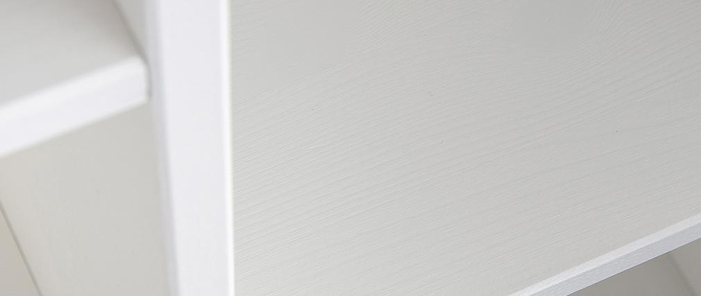 Design-Bücherregal Holz Weiß CLIMB