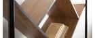 Design-Bücherregal MDF Holz und Metall schwarz TAULA
