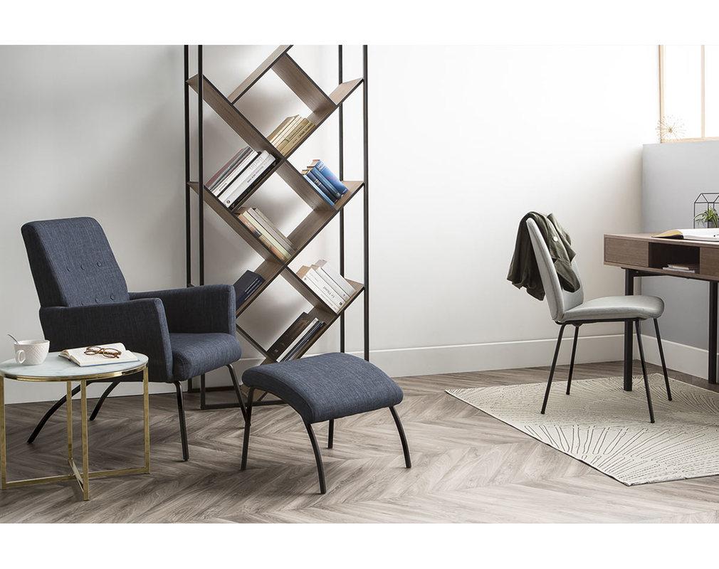 Design-Bücherregal MDF Holz und Metall schwarz TAULA - Miliboo