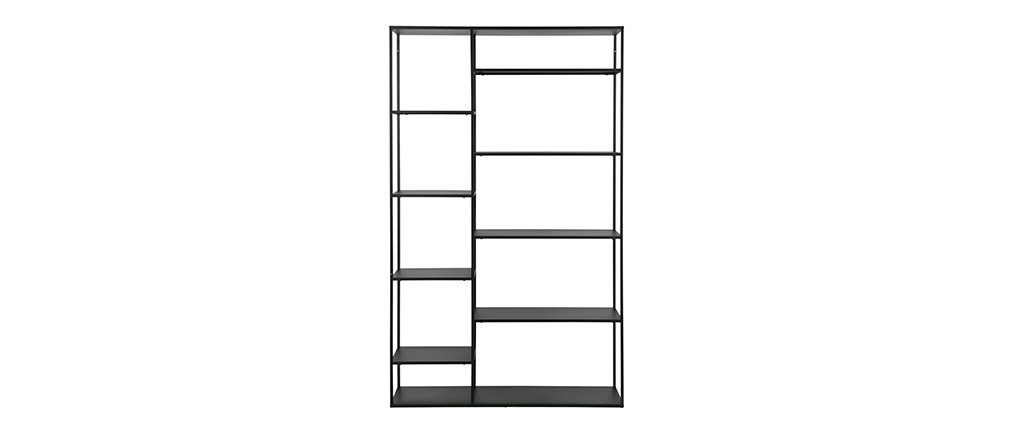 Design-Bücherregal Metall Schwarz ZEPPELIN
