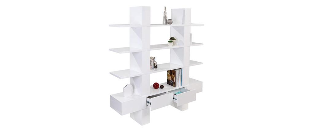 Design-Bücherregal/Regal NATHAN Weiß