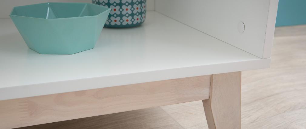 Design-Bücherregal Weiß mit 4 Ablageflächen LEENA
