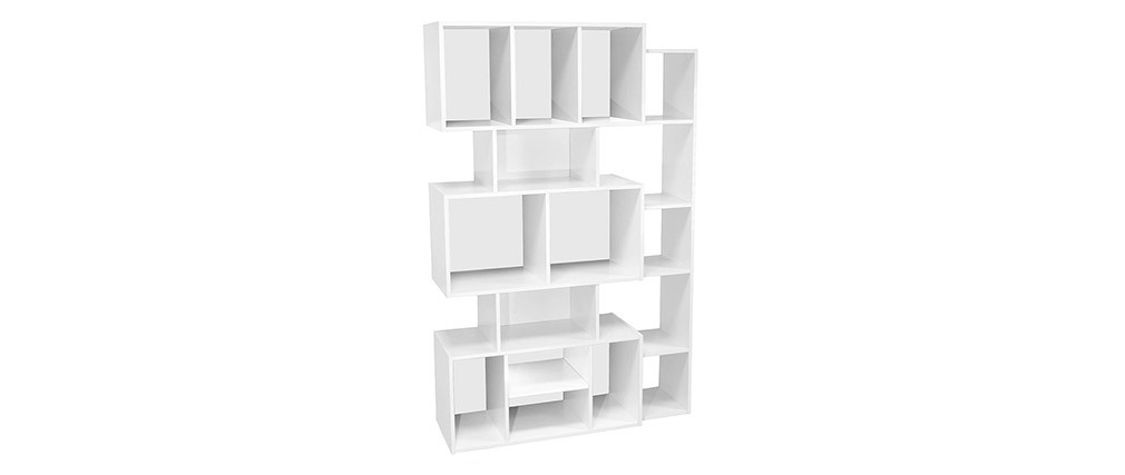 Design-Bücherregal weiß mit schwarzem oder weißem Hintergrund FOLCO