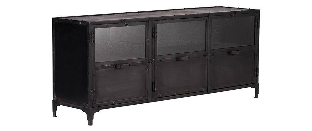 Design-Buffet Metall Schwarz FACTORY