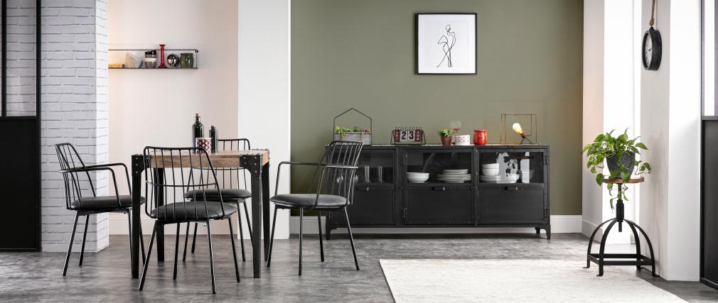Design-Buffet Metall Schwarz FACTORY