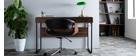 Design-Bürosessel ARAMIS, schwarzes PU/helles Holz