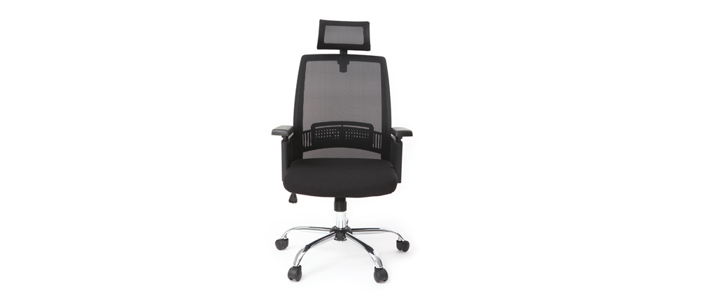 Design-Bürosessel ergonomisch Schwarz TITAN