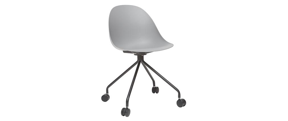 Design-Bürosessel Grau und Schwarz CONCHA