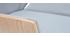 Design-Bürosessel helles Holz und PU Grau CURVED