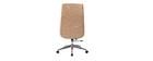 Design-Bürosessel helles Holz und PU Weiß CURVED