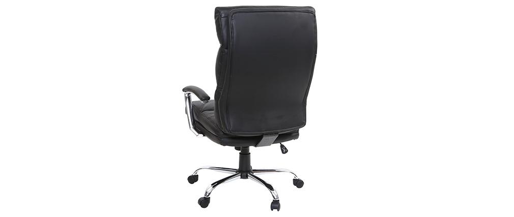 Design-Bürosessel Leder Schwarz TILIO