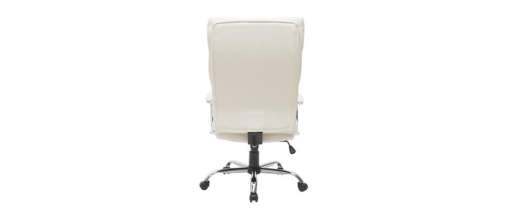Design-Bürosessel Leder Weiß TILIO