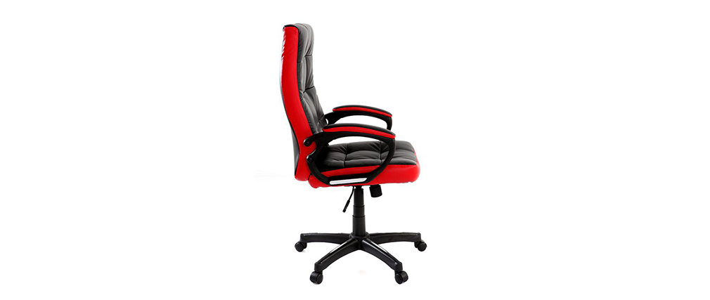 Design-Bürosessel LORENZO Schwarz und Rot