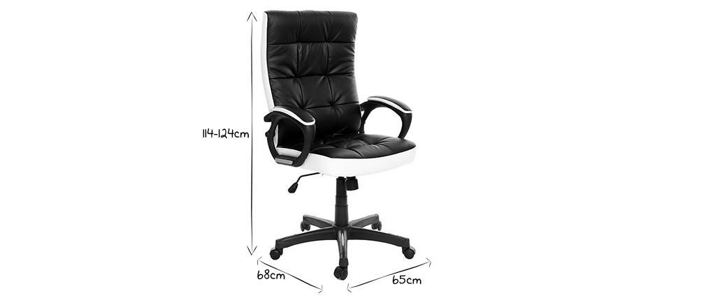 Design-Bürosessel LORENZO Schwarz und Weiß