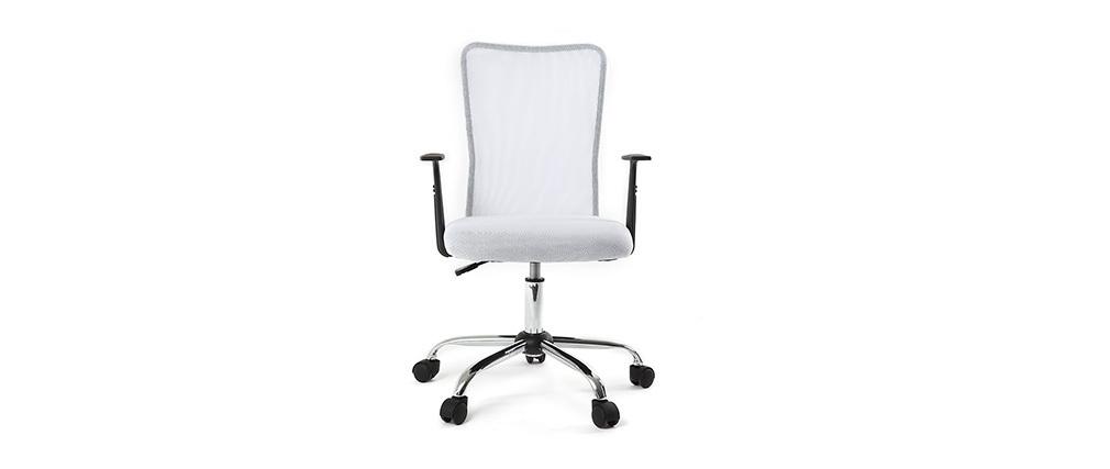 Design-Bürosessel Mesh Weiß PLUZ