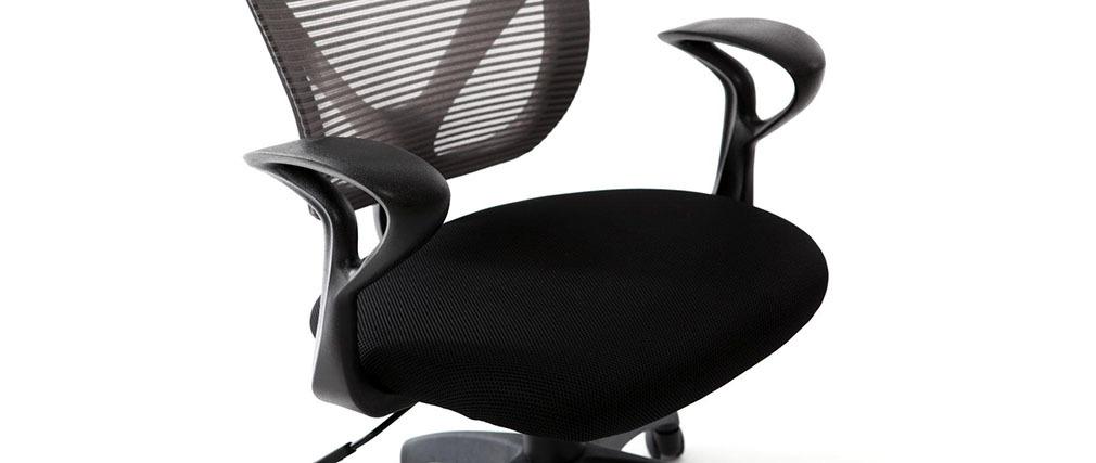 Design-Bürosessel PAOLO Schwarz und Grau