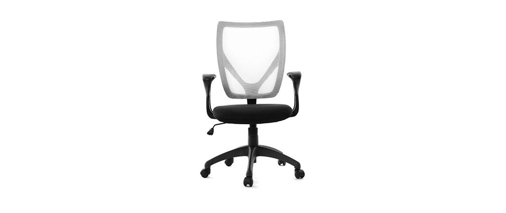 Design-Bürosessel PAOLO Schwarz und Weiß