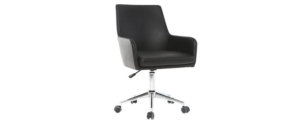 Design-Bürosessel PU Schwarz SHANA