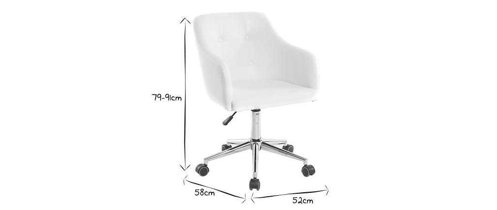Design-Bürosessel PU Weiß BALTIK
