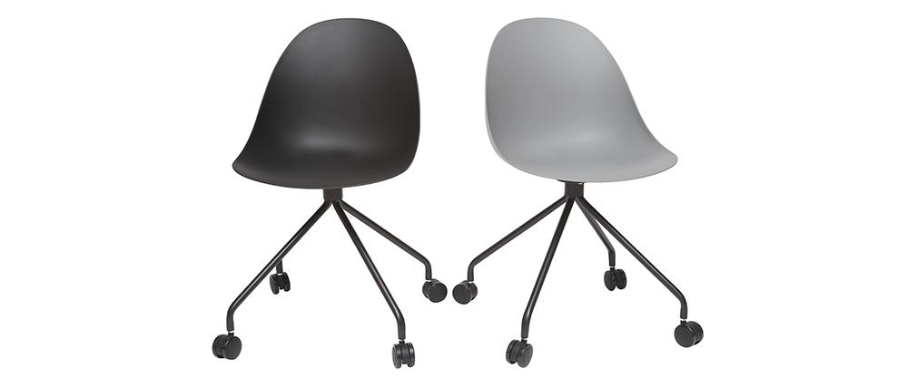 Design-Bürosessel Schwarz CONCHA