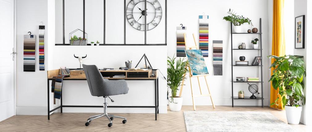 Design-Bürosessel Stoff Anthrazitgrau SHANA