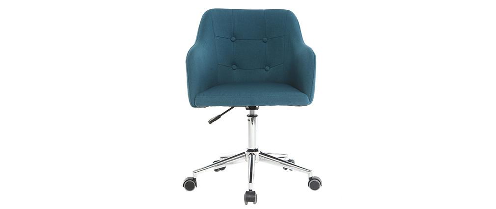 Design Bürosessel Stoff Blaugrün BALTIK