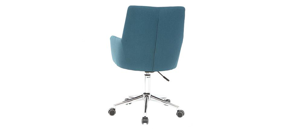 Design Bürosessel Stoff Blaugrün SHANA