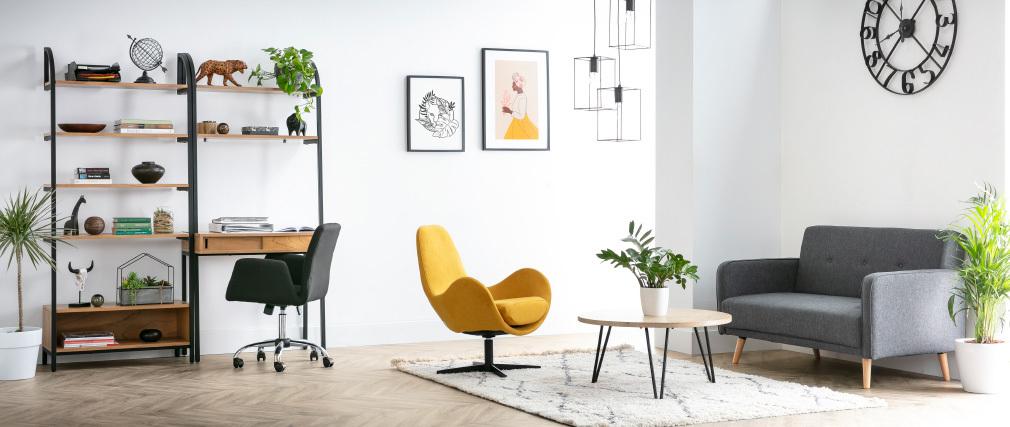 Design-Bürosessel Stoff Cremefarben ARIEL