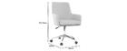Design-Bürosessel Stoff Grau SHANA