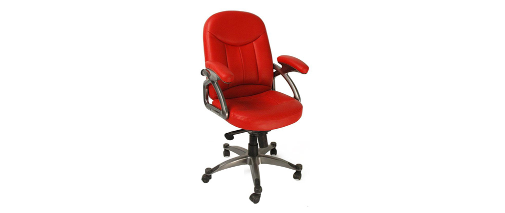 Design-Bürosessel / Stuhl Rot ENZO