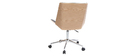 Design-Bürostuhl PU Schwarz und Holz MELKIOR