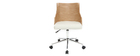 Design-Bürostuhl PU Weiß und helles Holz MAYOL