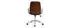 Design-Bürostuhl schwarz und dunkles Holz GLORY