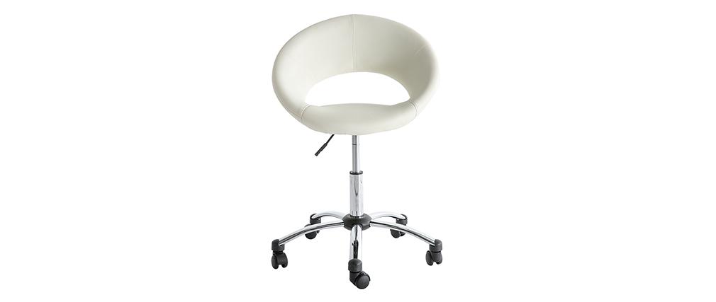 Design-Bürostuhl Weiß auf Rollen PINTO