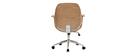 Design-Bürostuhl Weiß helles Holz YORKE