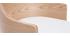 Design-Bürostuhl weiß und helles Holz mit integriertem Kissen