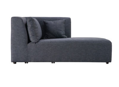 Design-Chaiselongue-Modul Schiefergrau PLURIEL