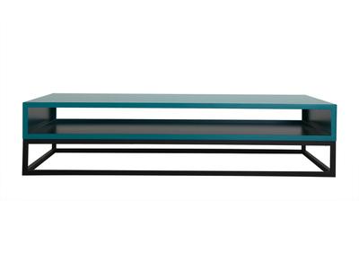 Design-Couchtisch Blau SURFACE