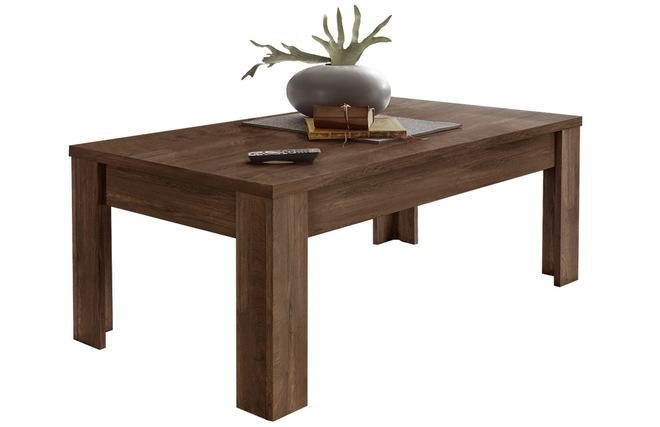 Design Couchtisch Dunkles Holz 122cm Land Miliboo