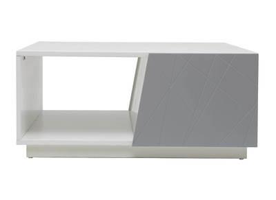 Design-Couchtisch lackiert Grau matt 90 cm ALESSIA