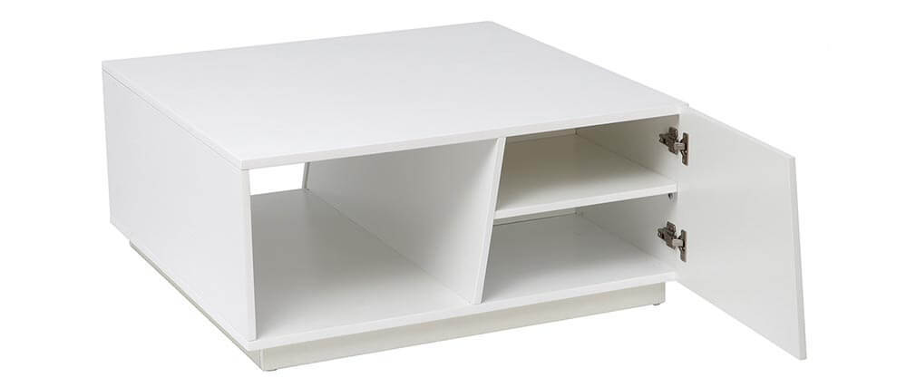 Design-Couchtisch lackiert Weiß matt 90 cm ALESSIA