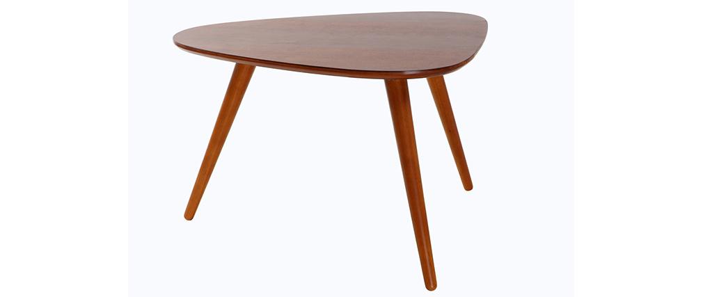 Design-Couchtisch Nussbaumholz ARTIK