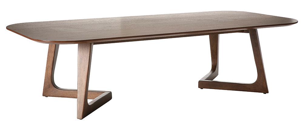 Design-Couchtisch Nussbaumholz L150 cm JUKE