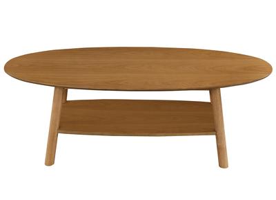 Design-Couchtisch ovales Holz YOKO