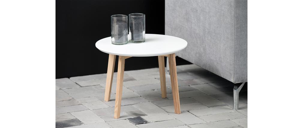 Design couchtisch rund 50 cm wei matt sara miliboo for Couchtisch 50 cm