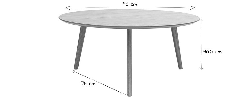 Design-Couchtisch rund ORKAD