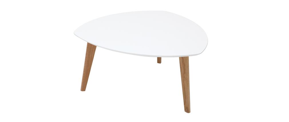 Design-Couchtisch Weiß 80 cm EKKA