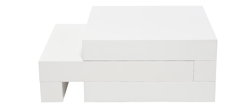 Design-Couchtisch Weiß Glänzend LUNA
