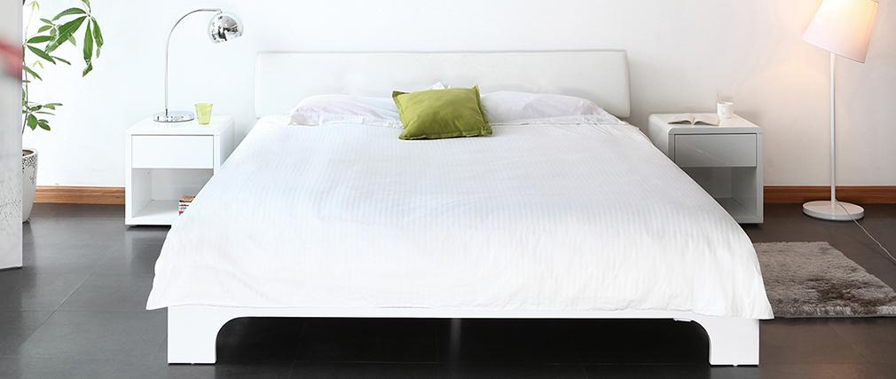 Design-Doppelbett 140x190 ELIAH Weiß
