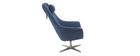 Design-Drehsessel Stoff Blau und Metallgestell AMADEO